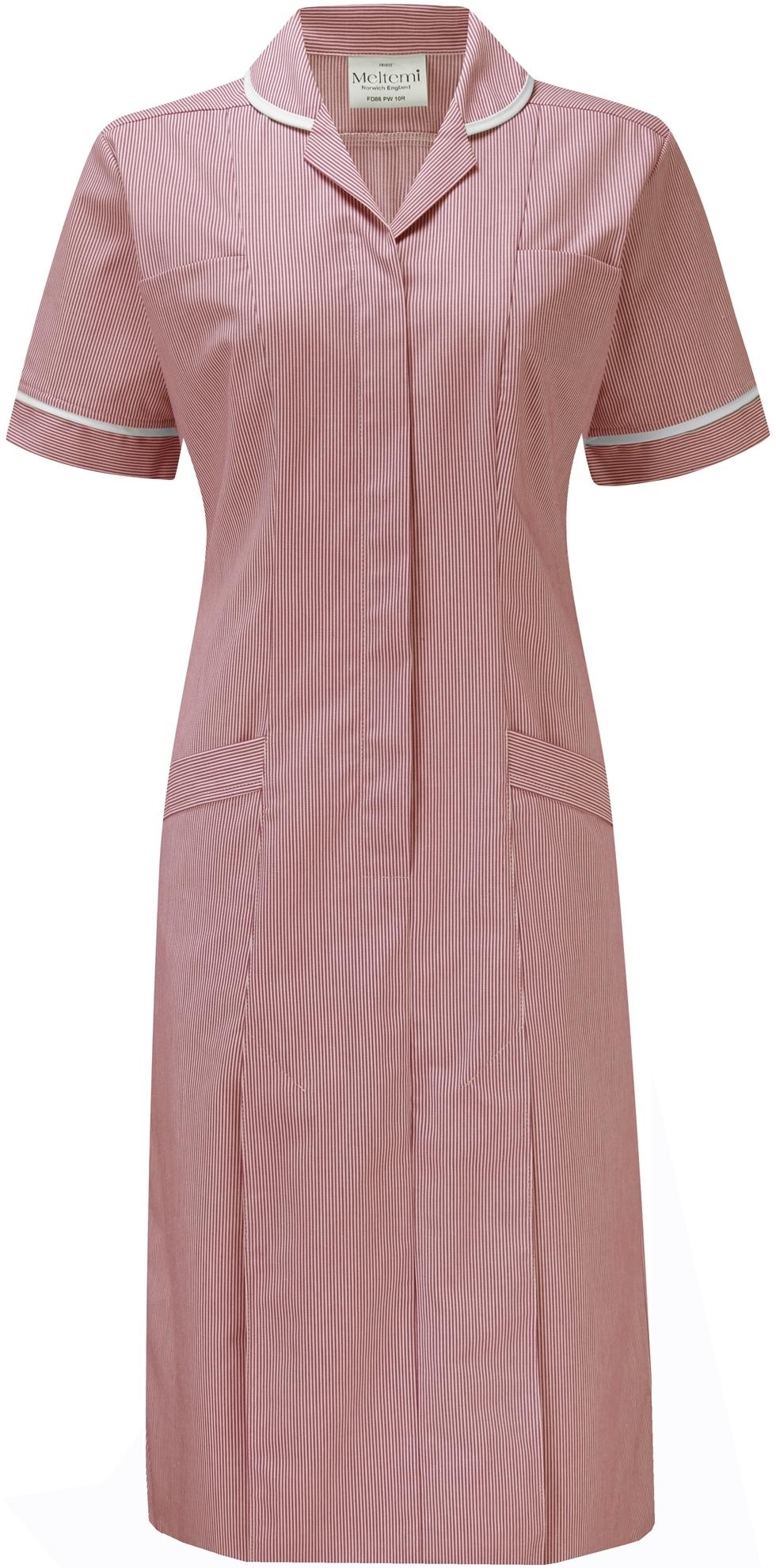 Picture of Fine Stripe Dress - Red/White