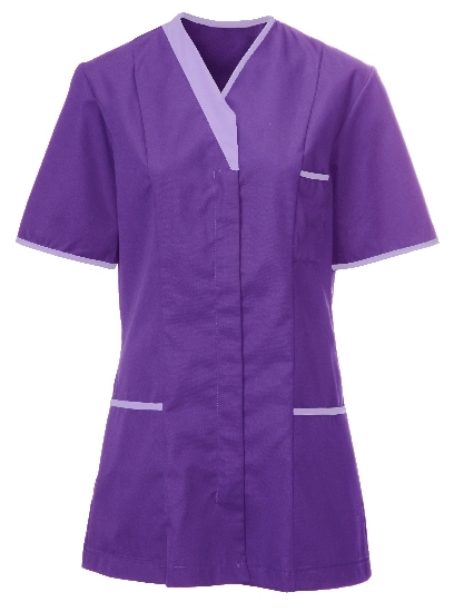 Picture of Contemporary Contrast Female Tunic - Purple/Lilac