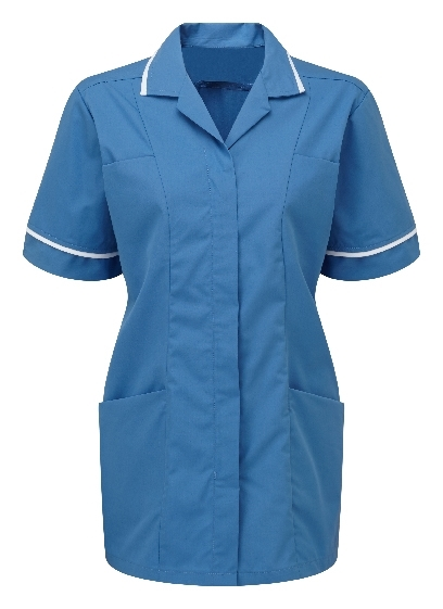 Picture of Lightweight Female Square Collar Tunic - Hospital Blue/White