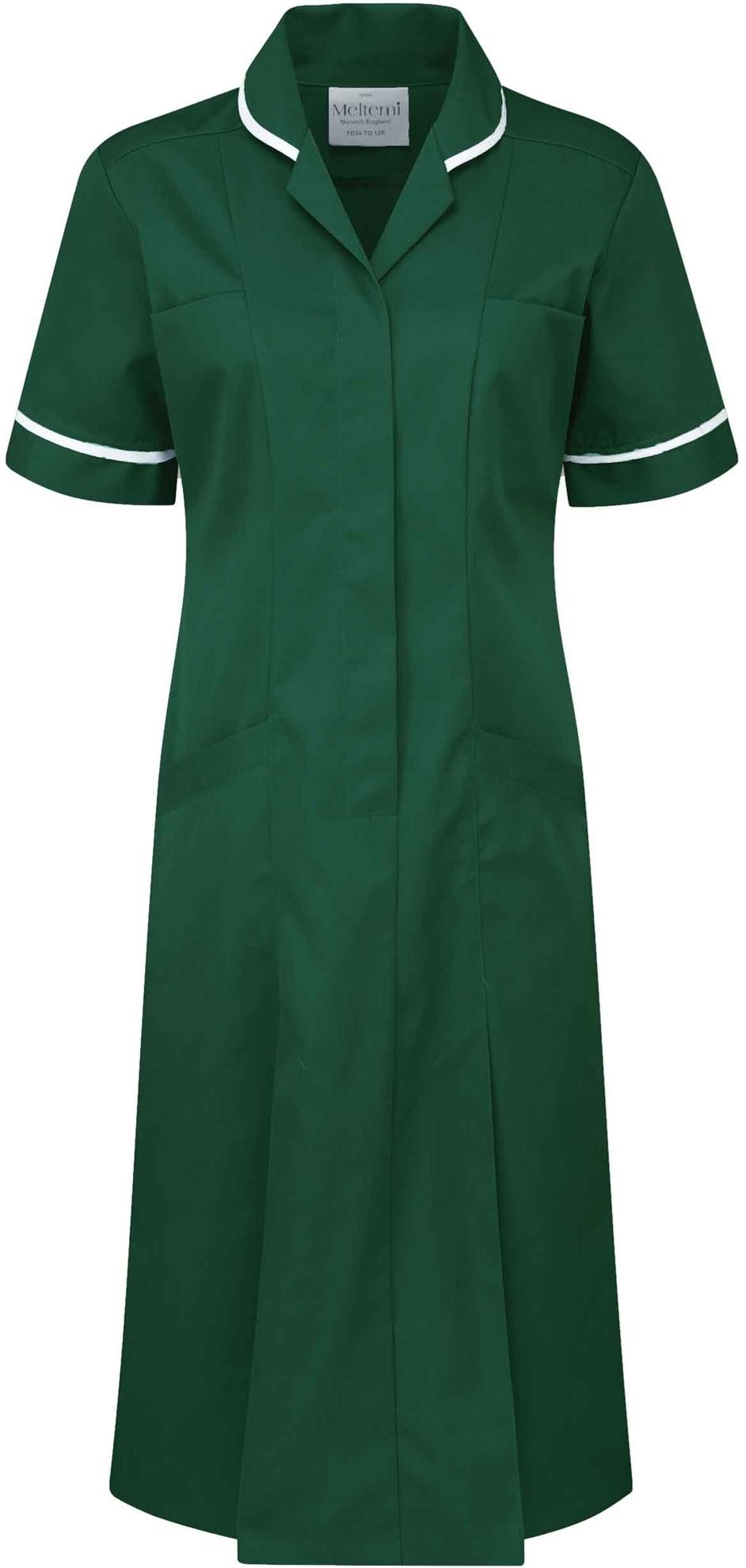 Picture of Advantage Plain Dress - Bottle Green/White