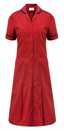 Picture of Advantage Plain Dress - Red/Navy