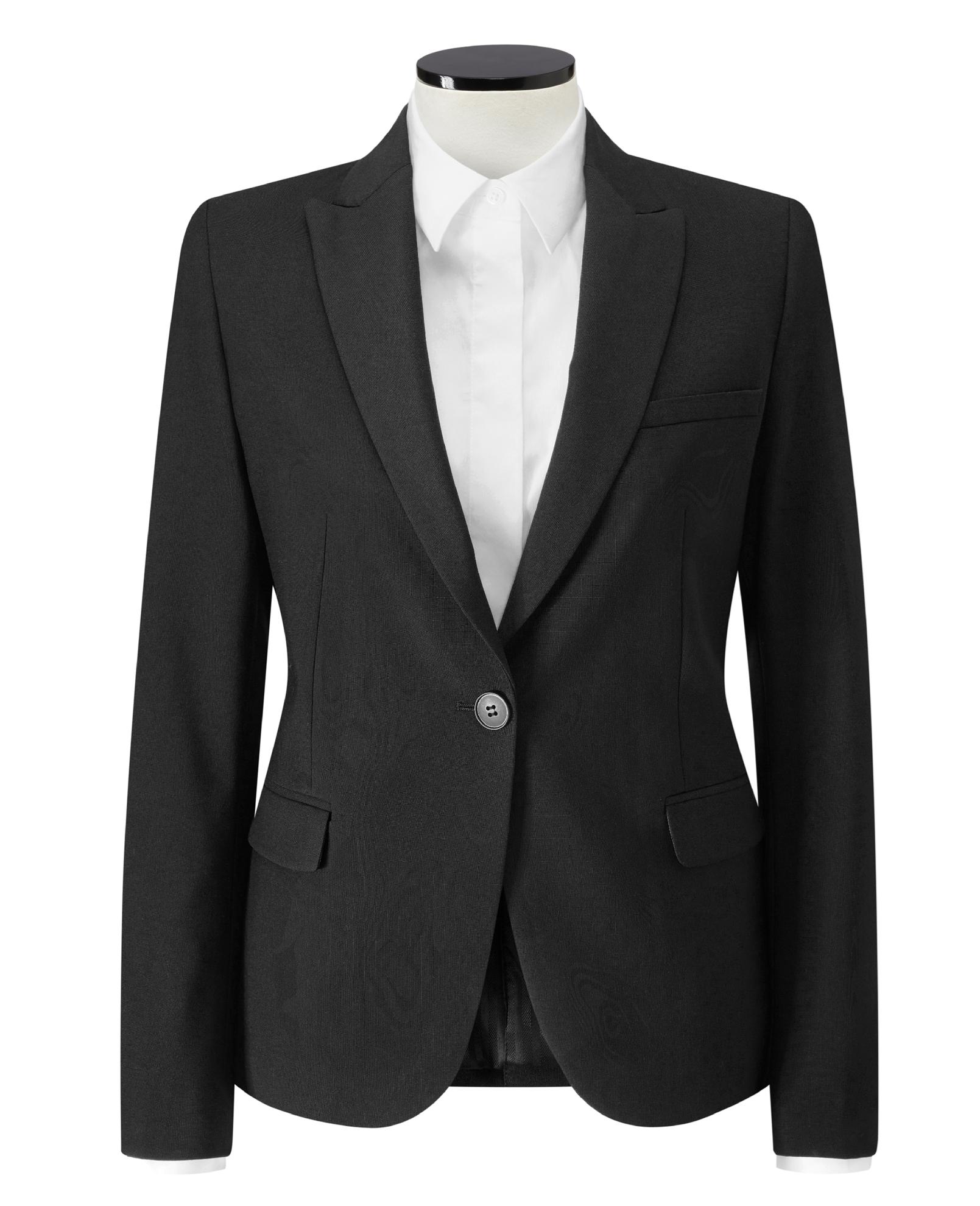 Picture of Ladies Hoxton Slim Fit Jacket -Black
