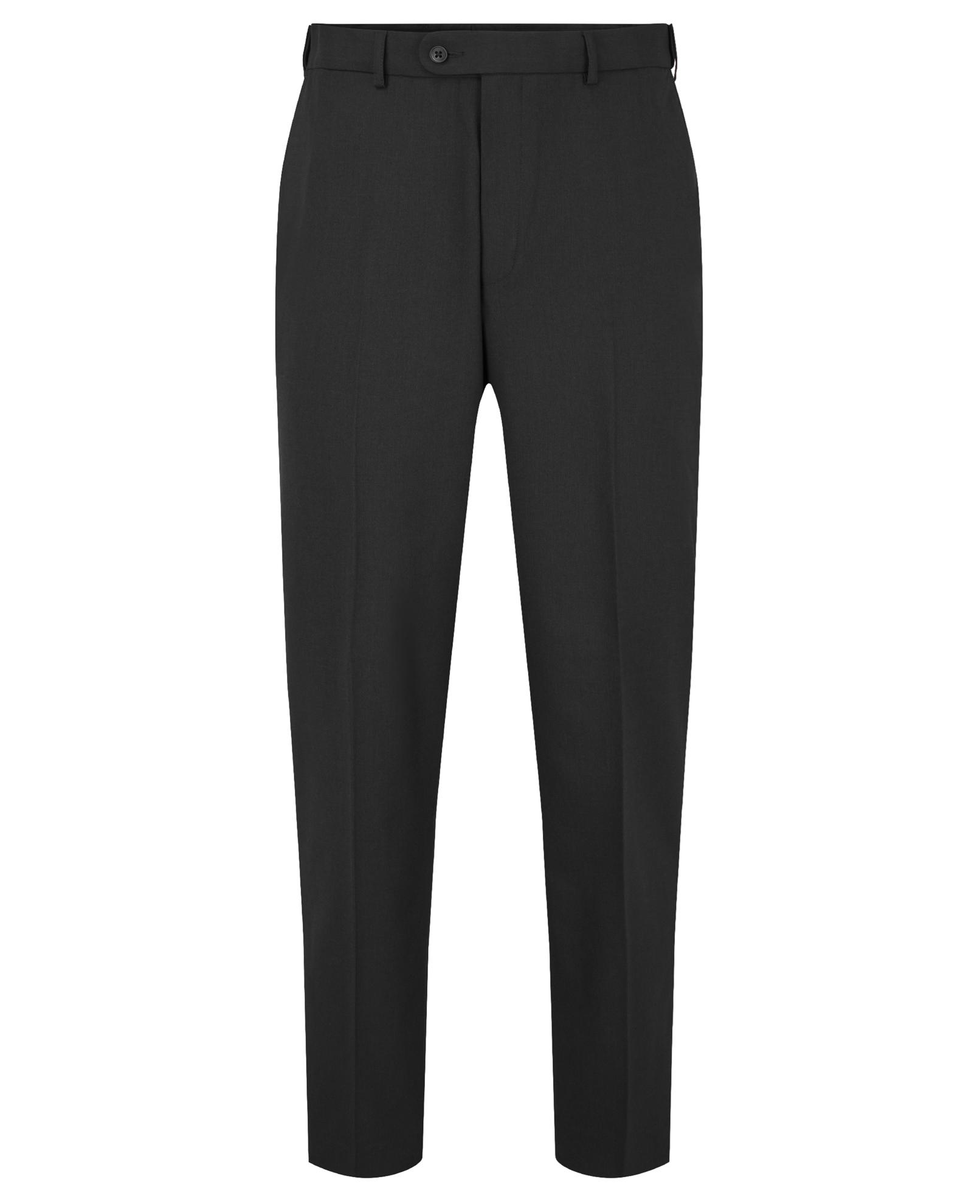 Picture of Putney Plain Men's Front Trouser - Black