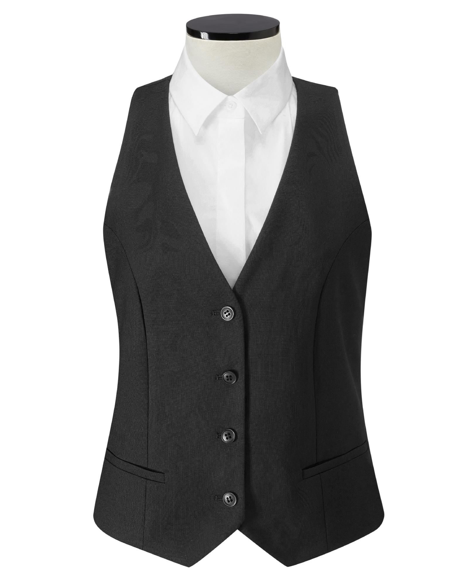 Picture of Poplar Ladies Waistcoat - Black