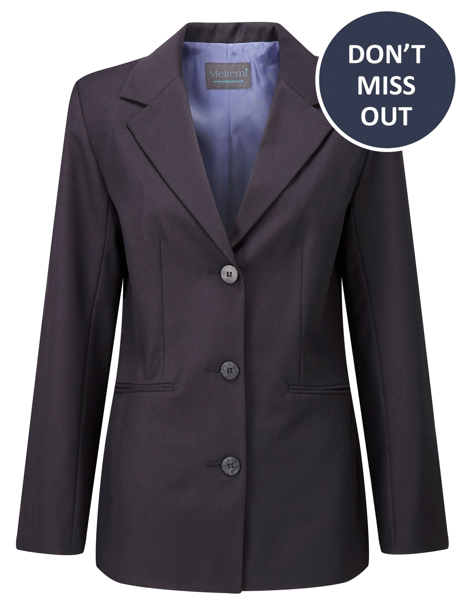 Picture of Single-breasted EasyCare jacket - Navy