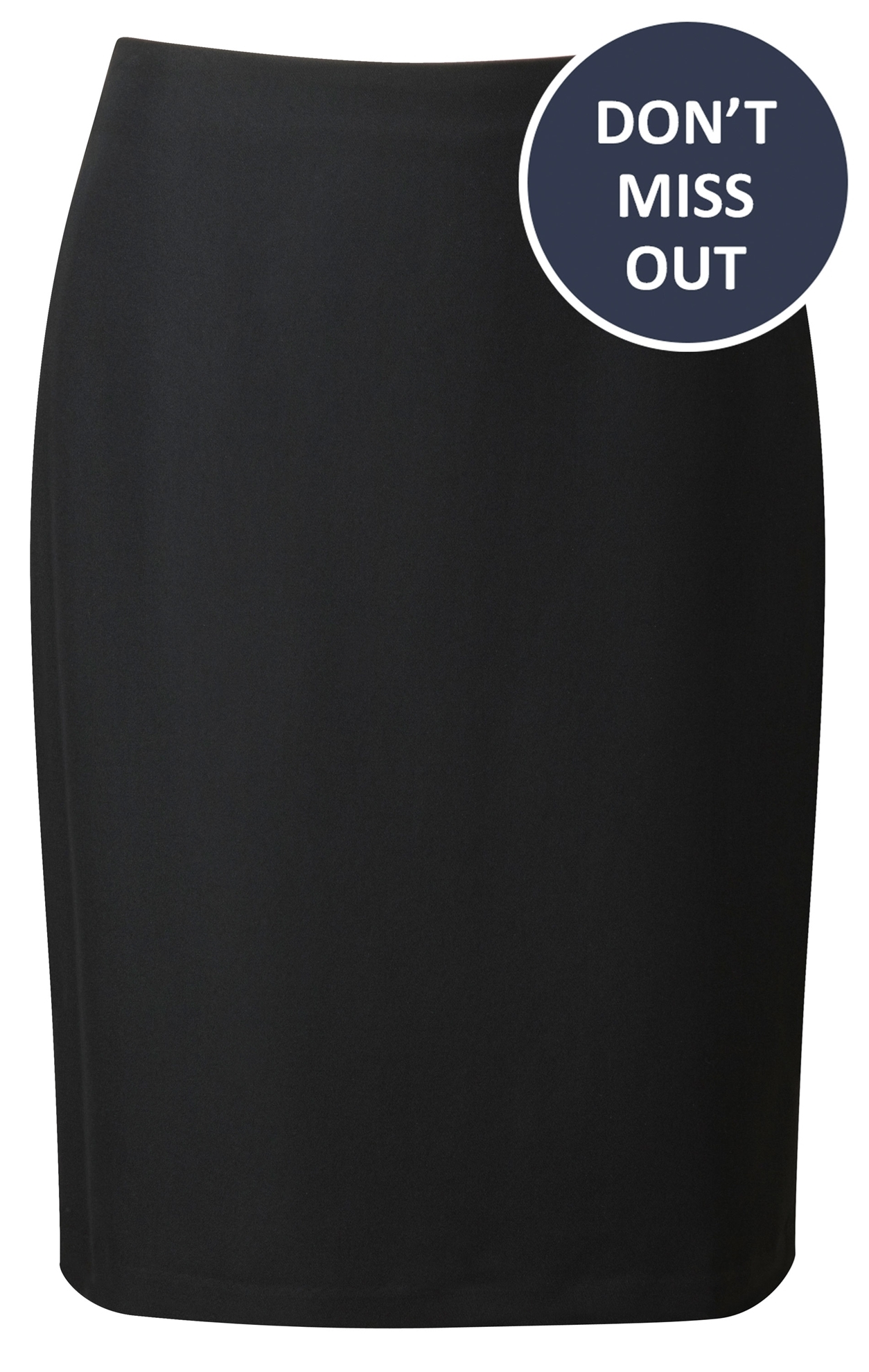 Picture of Easycare Straight Skirt - Black