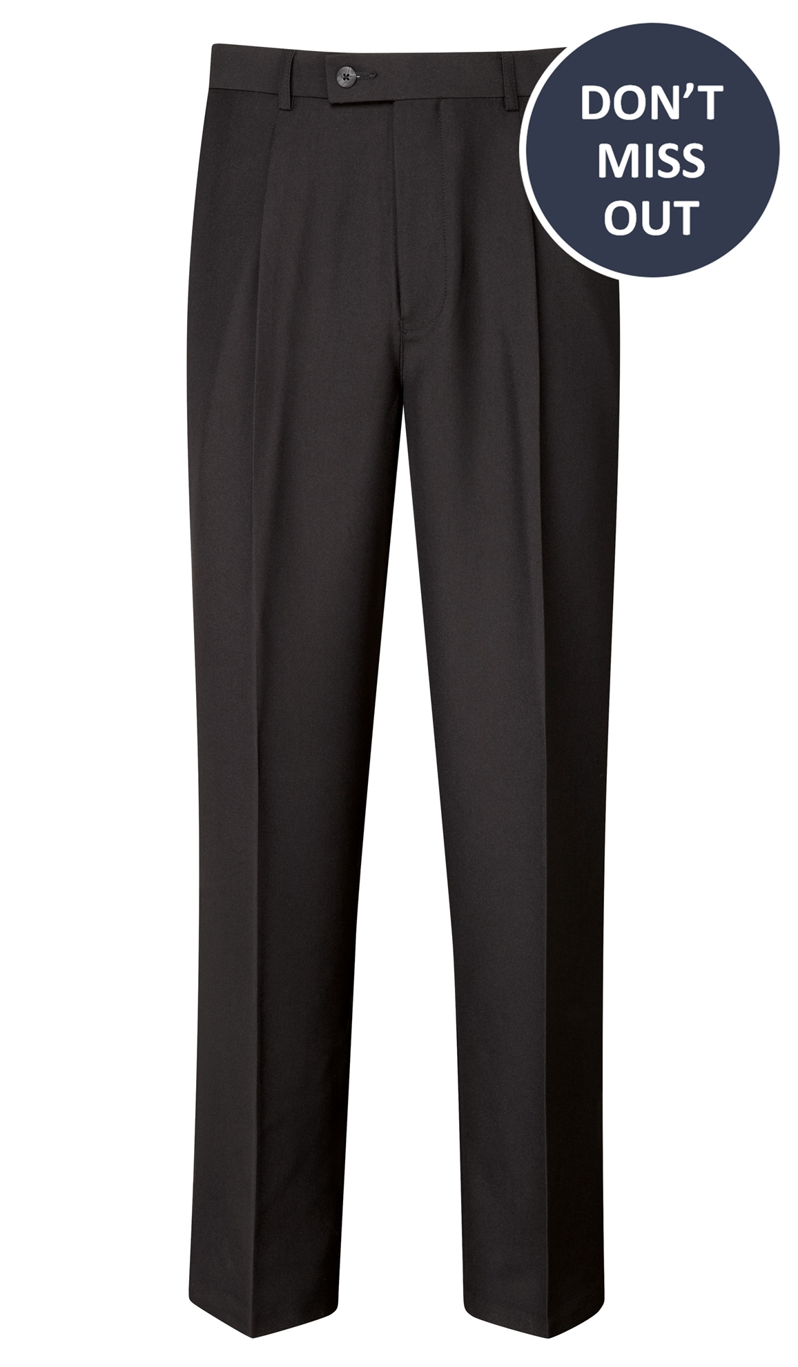 Picture of Male Easycare Trousers - Black