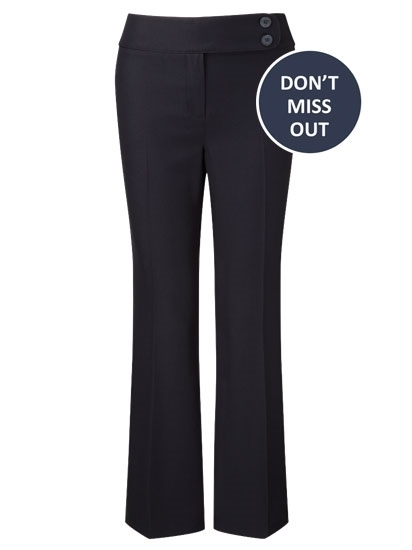 Picture of Easycare Bootcut  Trousers - Navy