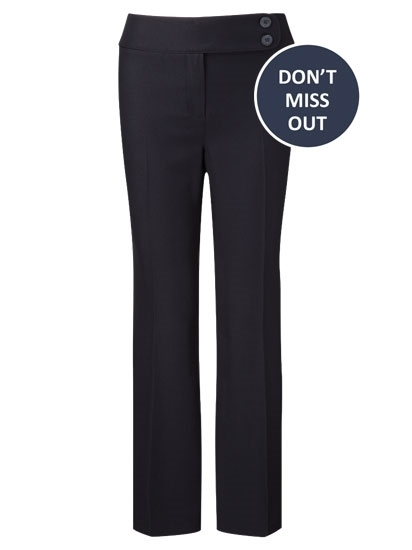 Picture of Easycare Straight Leg Trousers - Navy