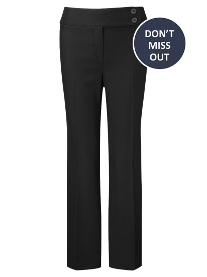 Picture of Easycare Straight Leg Trousers - Black