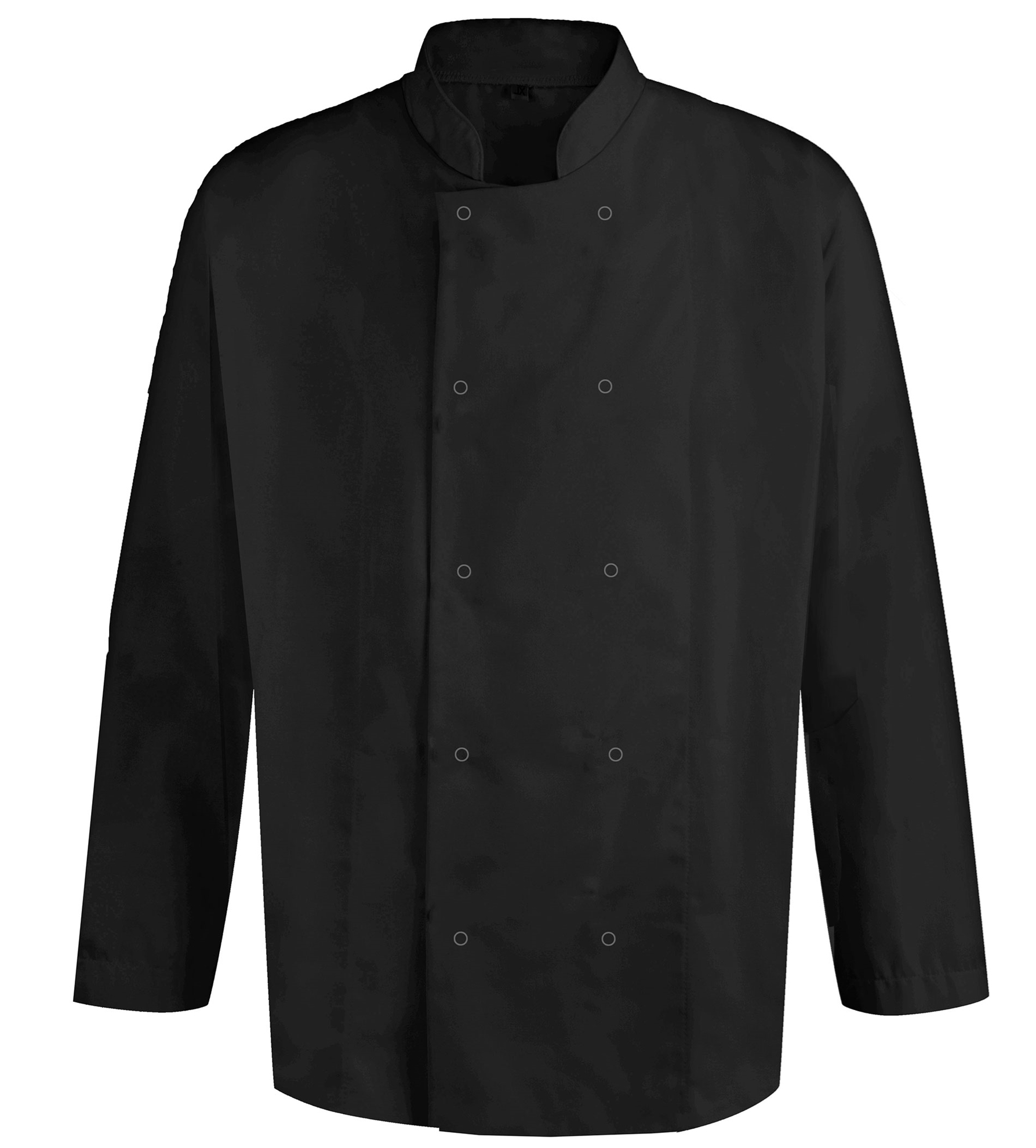 Picture of Unisex Long Sleeve Studded Chefs Jacket - Black