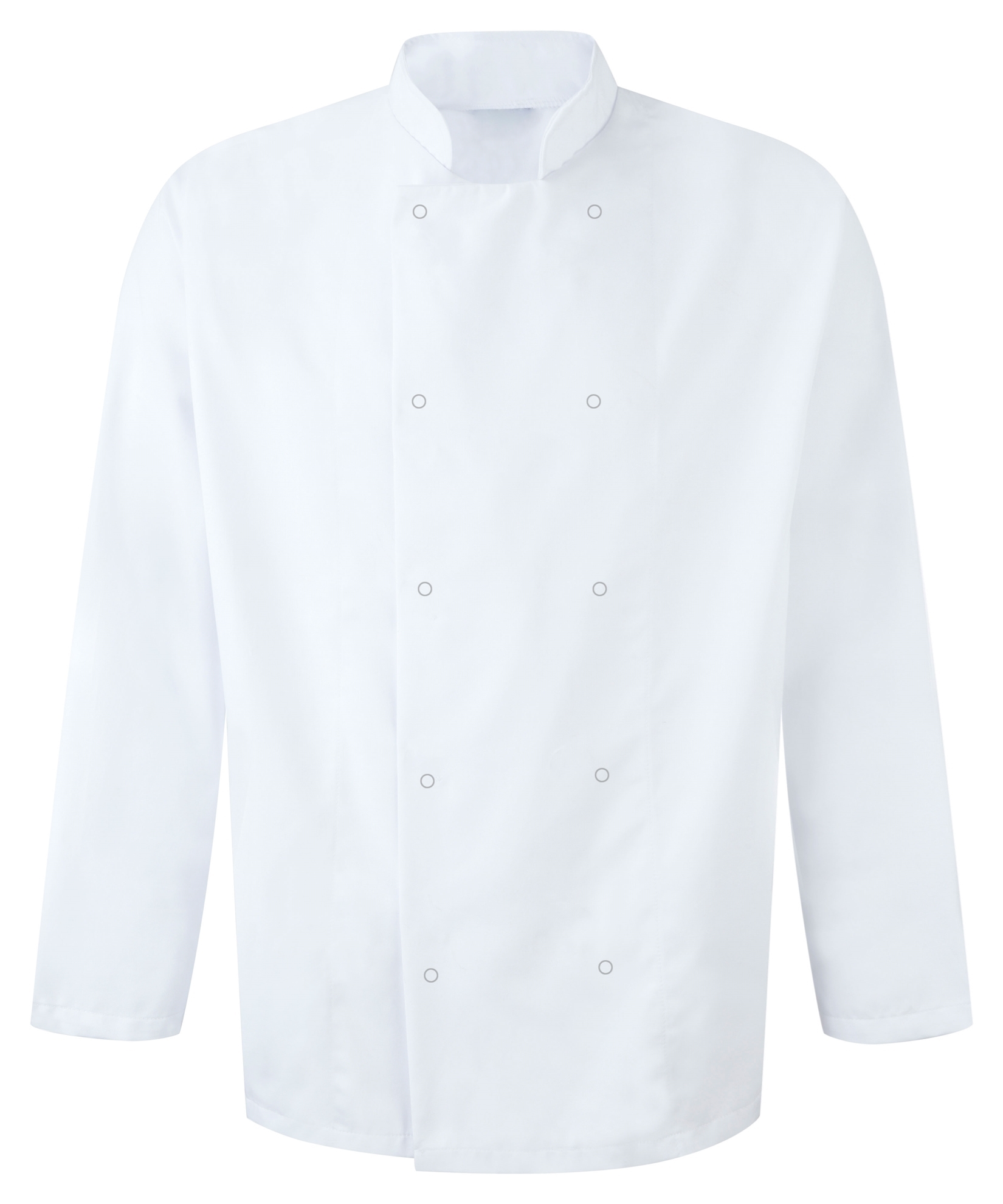 Picture of Unisex Long Sleeve Studded Chefs Jacket - White