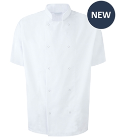 Picture of Unisex Short Sleeve Studded Chefs Jacket