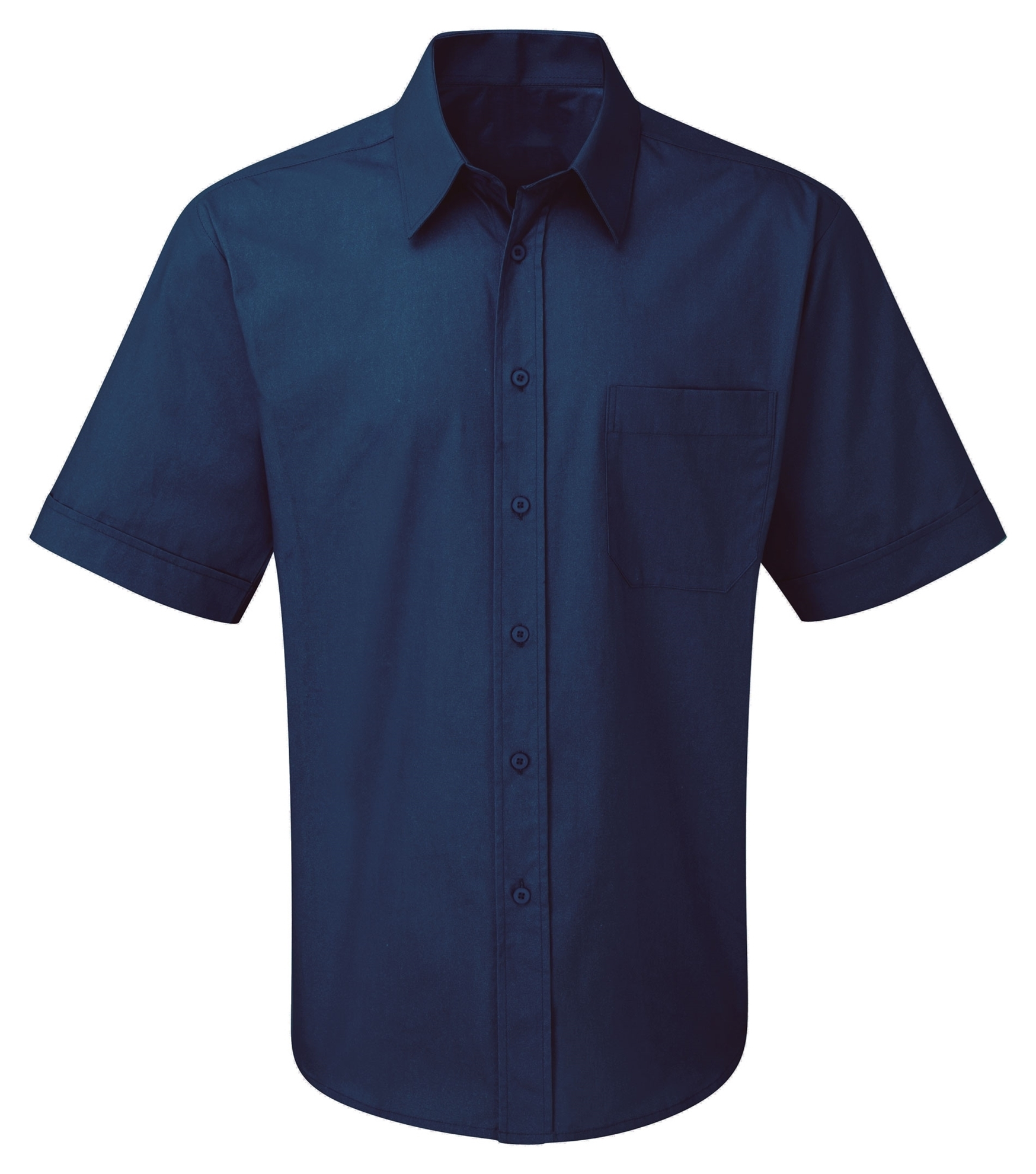 Picture of Male Short Sleeve Shirt - Plain Navy