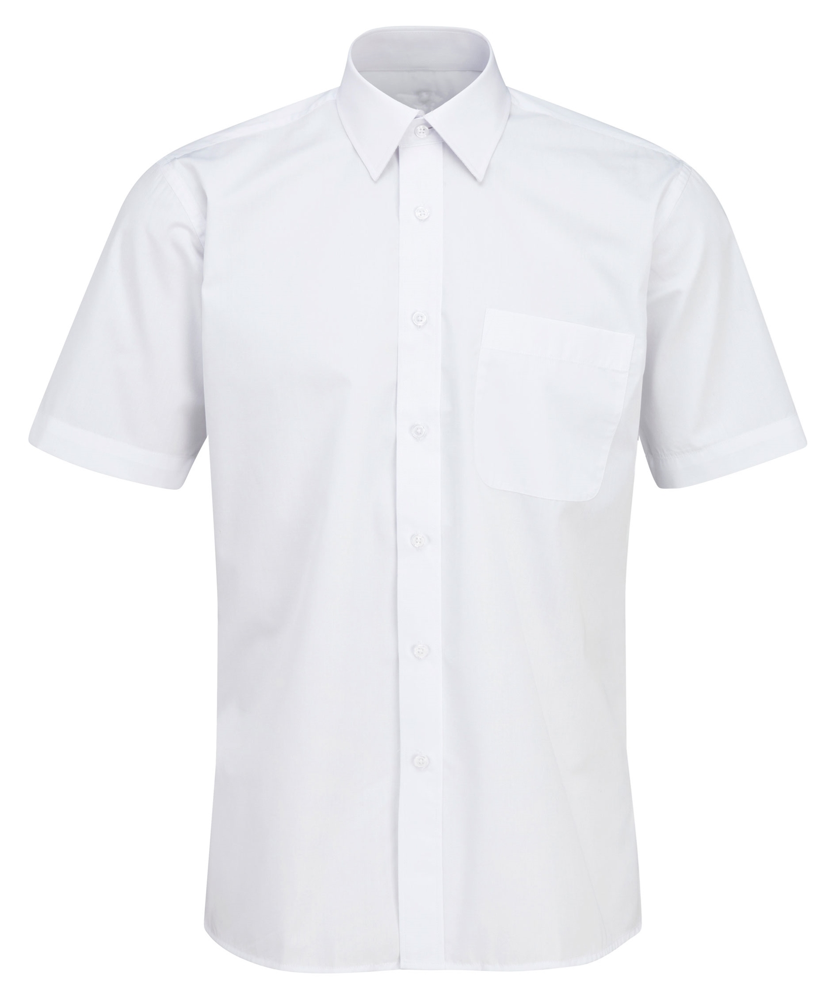 Picture of Male Short Sleeve Shirt - Plain White