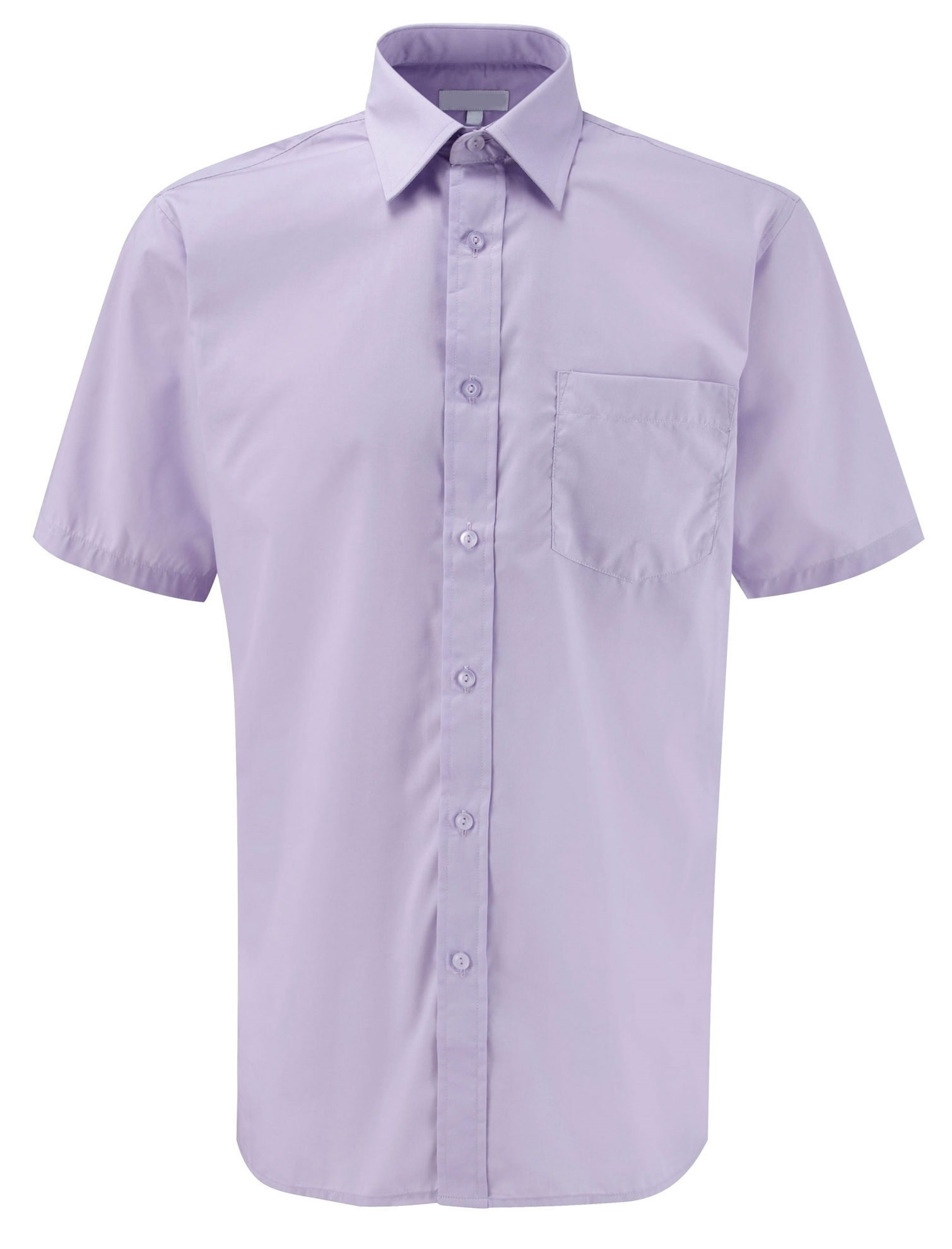 Picture of Male Short Sleeve Shirt - Plain Lilac