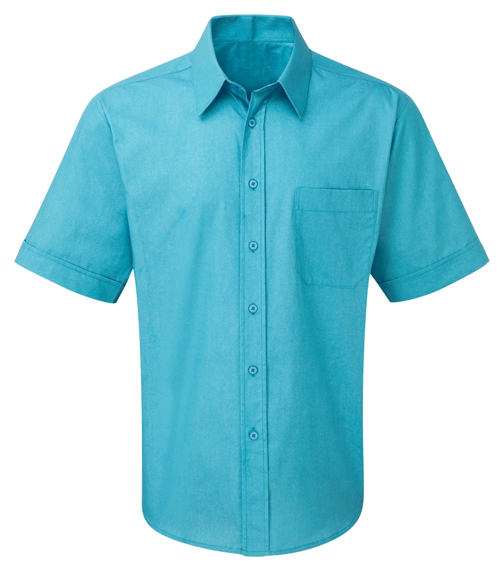 Picture of Male Short Sleeve Shirt - Plain Teal
