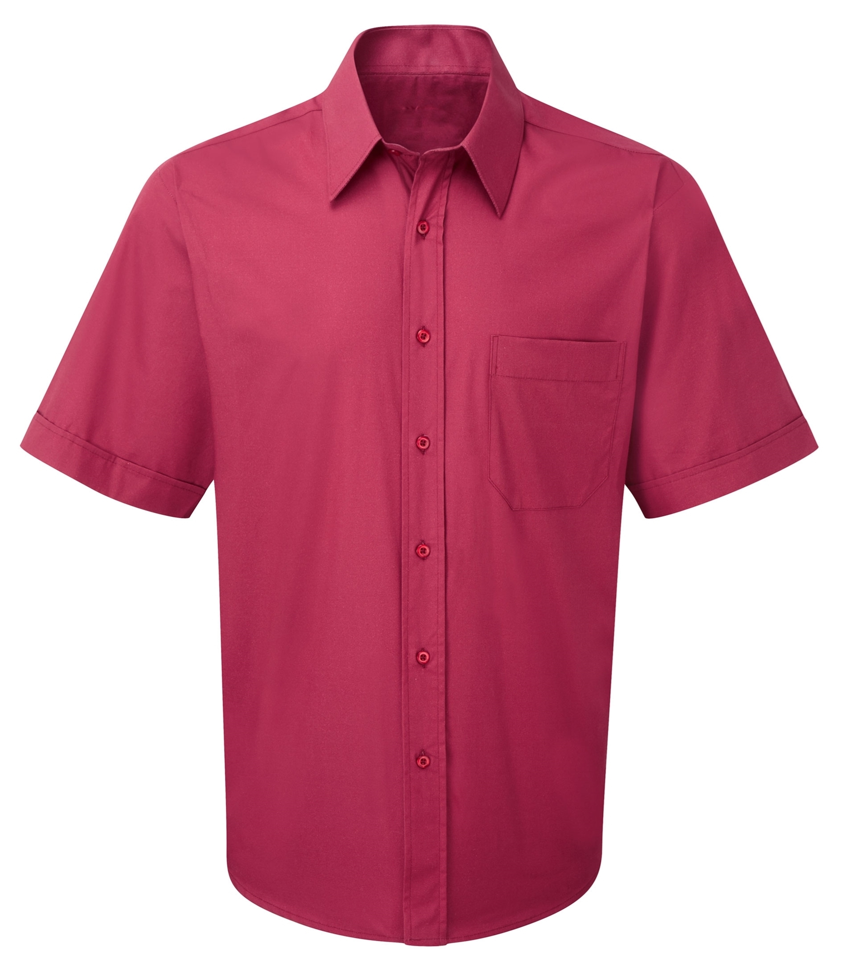 Picture of Male Short Sleeve Shirt - Plain Berry