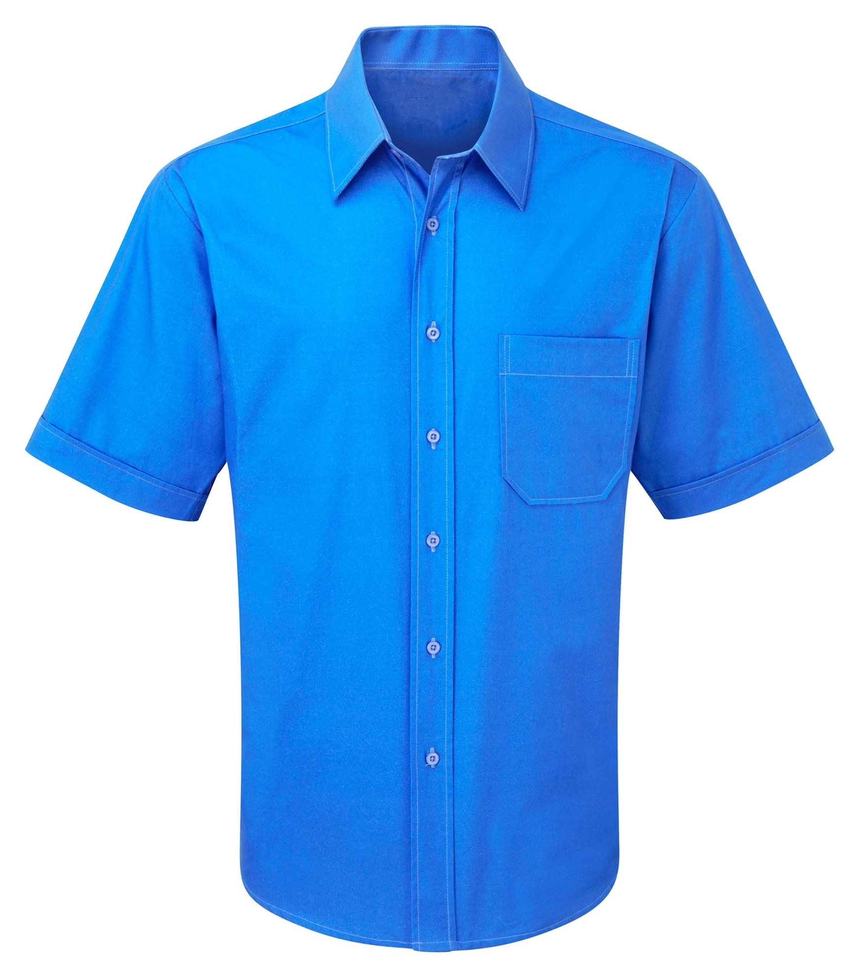 Picture of Male Short Sleeve Shirt - Plain Azure
